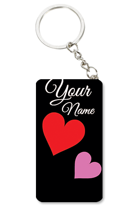 Zid Black Valentine Valentine's Day Small Rectangle Key Chain