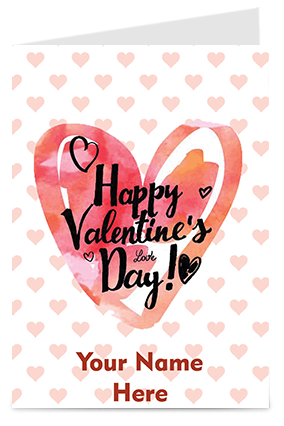 Amazing Customize Heart Design Valentine'S Day Greeting Card