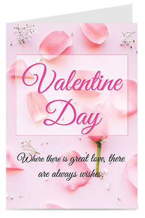 Customize Pretty Pink Special Valentine's Day Greeting Cards
