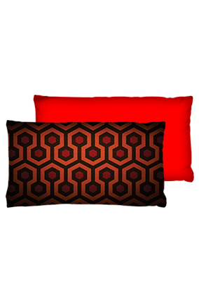 Bee Hive Pattern Velvet Rectangular Red Cushion