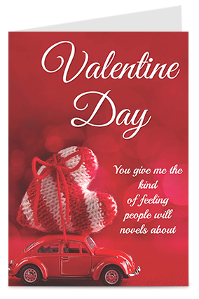 Red Heart Themed Valentine's Day Greeting Cards
