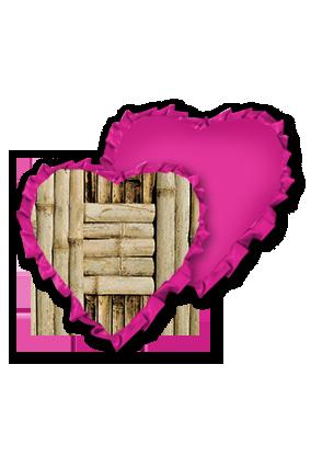 Cross Bamboo Sheet Velvet Heart Shape Pink With Pink Ribbon Cushion