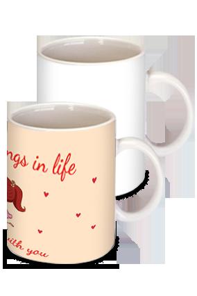 Printed  Sweet Love Theme Mug
