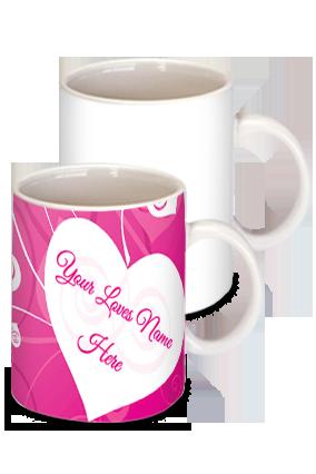 Glowing Pink Heart Mug