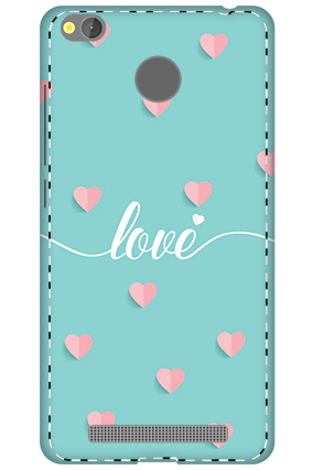3D - Xiaomi Redmi 3S Prime Greeny Pinky Love Mobile Cover