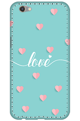3D - Oppo F3 Greeny Pinky Love Mobile Cover