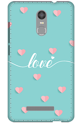 3D - Redmi Note 3 Greeny Pinky Love Mobile Cover