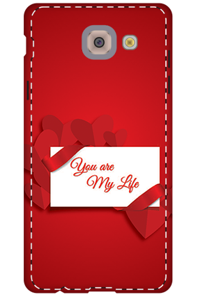 Personalized 3D-Samsung Galaxy j7 Max Darkish Red Heart Mobile Cover