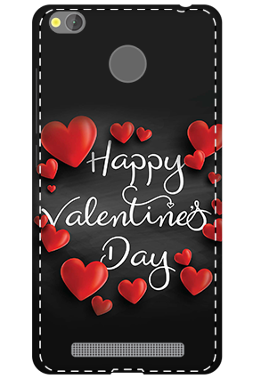 3D - Xiaomi Redmi 3S Prime Darkish Black Red Heart Mobile Covers