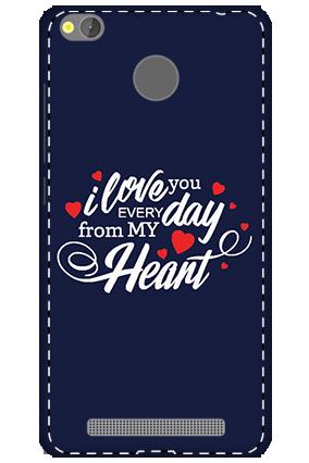 3D - Xiaomi Redmi 3S Prime Love Purpose Themed Mobile Covers