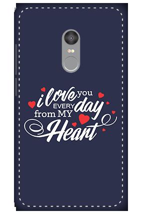 3D - Xiaomi Redmi Note 4 Love Purpose Themed Mobile Covers