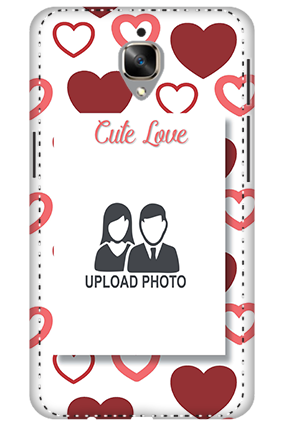 3D - OnePlus 3T Customized cute love mobile covers
