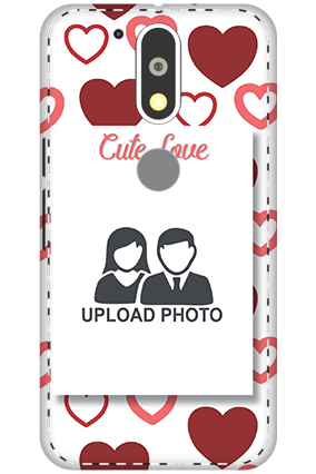 Customize 3D-Motorola Moto G4 Plus Customized Cute Love Mobile Covers