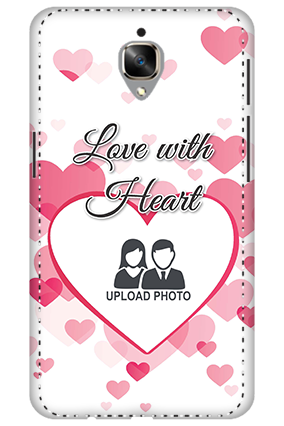 3D - OnePlus 3T Love with heart mobile covers