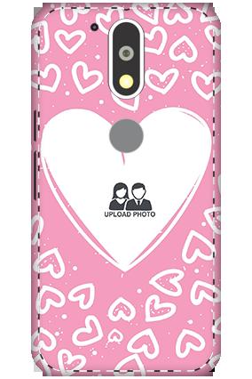 3D Motorola Moto G4 Plus Pinkish Heart Mobile Cover