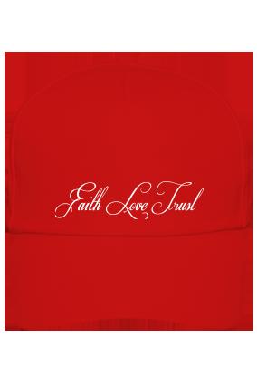Design Your Red Cap - Love & Faith