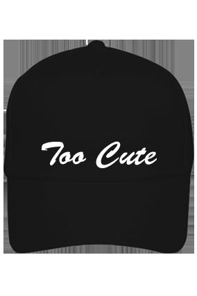 Personalized Too Cute Black Cap