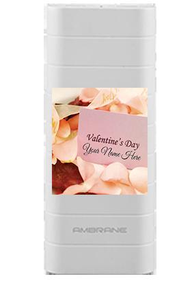 Customize Valentine 12500mAh Ambrane Power Bank White