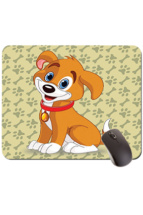 Cute Puppy Rectangular Mouse Pad