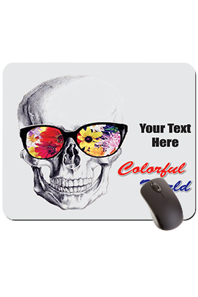 Colorful world Scull Rectangular Mouse Pad