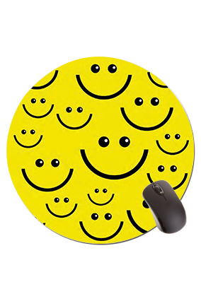 Smiley Round Mouse Pad