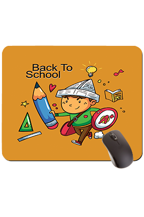 Back to School Rectangular Mouse Pad