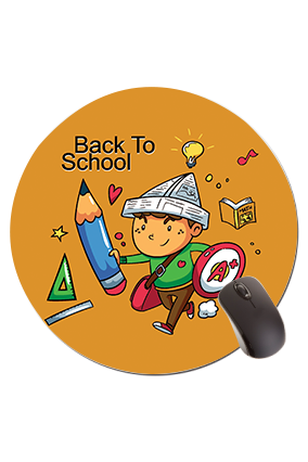 Back to School Round Mouse Pad