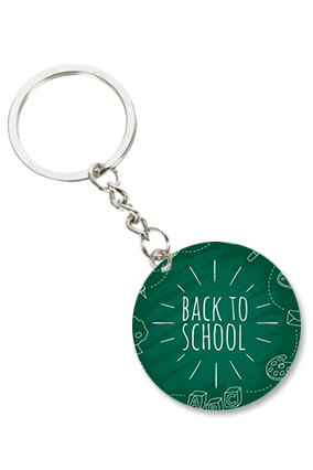 Back to School Round Shape Key Chain