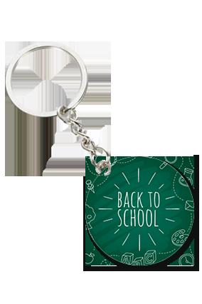 Back to School Round Shape Key Chain
