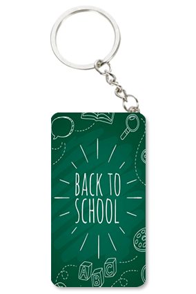 Back to School Small Rectangle Key Chain