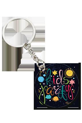 Kids Round Shape Key Chain