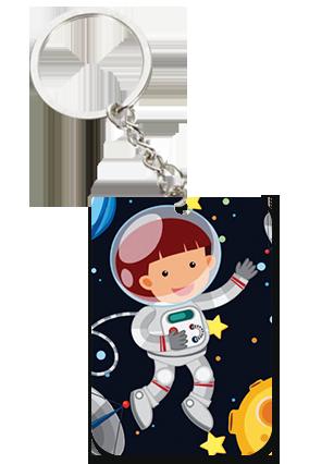 Little Astronaut Big Rectangle Key Chain