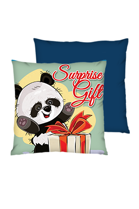 Surprise Gift Polyester Square Shape Navy Blue Cushions