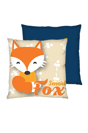 Smart Fox Polyester Square Shape Navy Blue Cushions