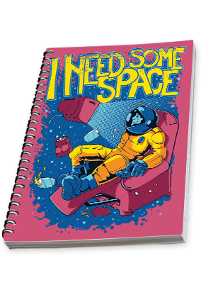 Personalised I need some space Side Spiral Notebook 2019