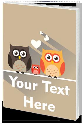 Personalised Effit Owl Notebook
