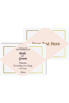 Adorable Light Pink Landscape Wedding Invitation Card
