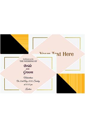 Adorable Light Pink Landscape Wedding Invitation Card