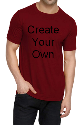 160GSM - Create Your Own Red Round Neck Drifit Dot Net Sports Half Sleeve Men T-Shirt