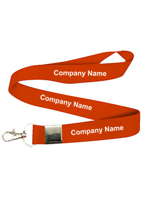Customized Company Name Red Lanyard