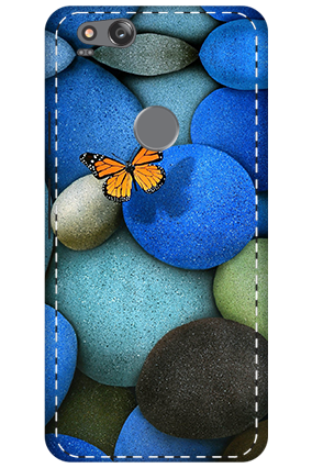 3D - Google Pixel 2 Colorful Stones Mobile Cover