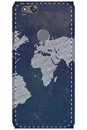 3D - Google Pixel 2 Earth Globe Design Mobile Cover