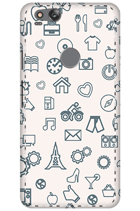 3D - Google Pixel 2 Iconic Pattern Mobile Cover