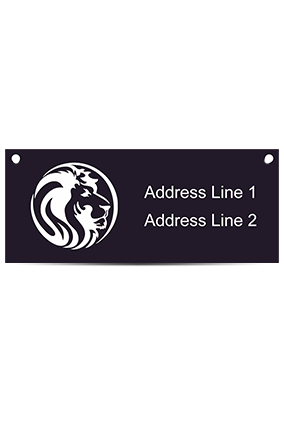 Lion Face Acrylic Nameplate (12 x 5 Inches)