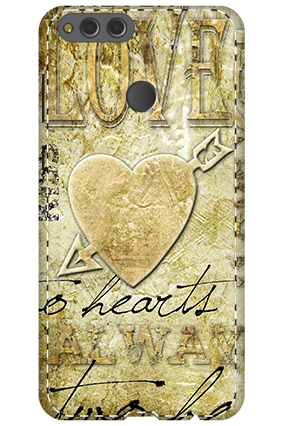 3D - Huawei Honor 7X Love Heart Mobile Cover