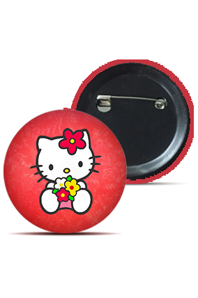 Customize Cute Kitty Badge