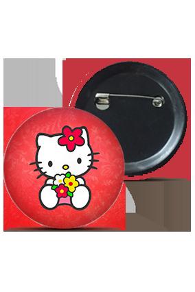 Customize Cute Kitty Badge