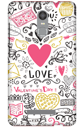 3D - Redmi Note 3 Love Pray Love Mobile Covers