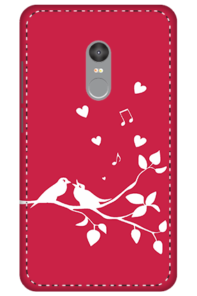3D - Xiaomi Redmi Note 4 Singing Love Birds Mobile Covers