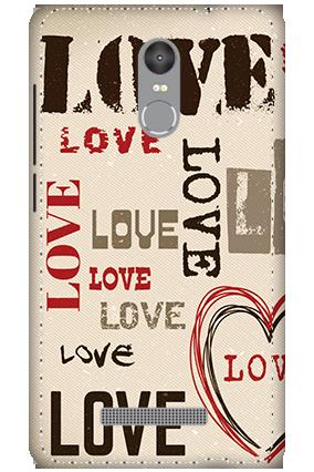 3D - Redmi Note 3 Intense Love Mobile Covers